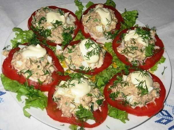 Салат, капля воды с тунцом, рецепт с фото