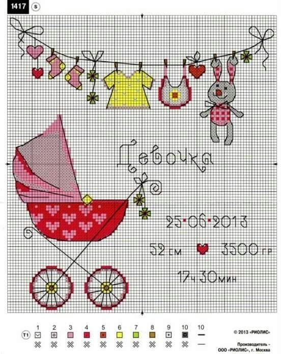 Схеми вишивки хрестиком для створення дитячої метрики. Зберігайте до своєї  скарбнички!  схеми  вишивка хрестиком  embroidery  handmade  вишивка   crossstitch 37b085b61561d