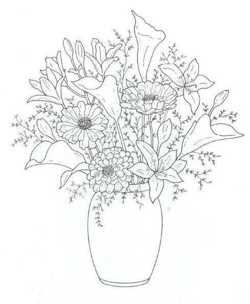 вышивка лентами для начинающих пошагово цветы схема