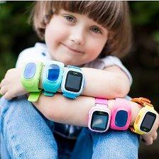 Уникальные современные детские умные часы Q80 с полностью сенсорным экраном и минимумом функциональных кнопок на корпусе.