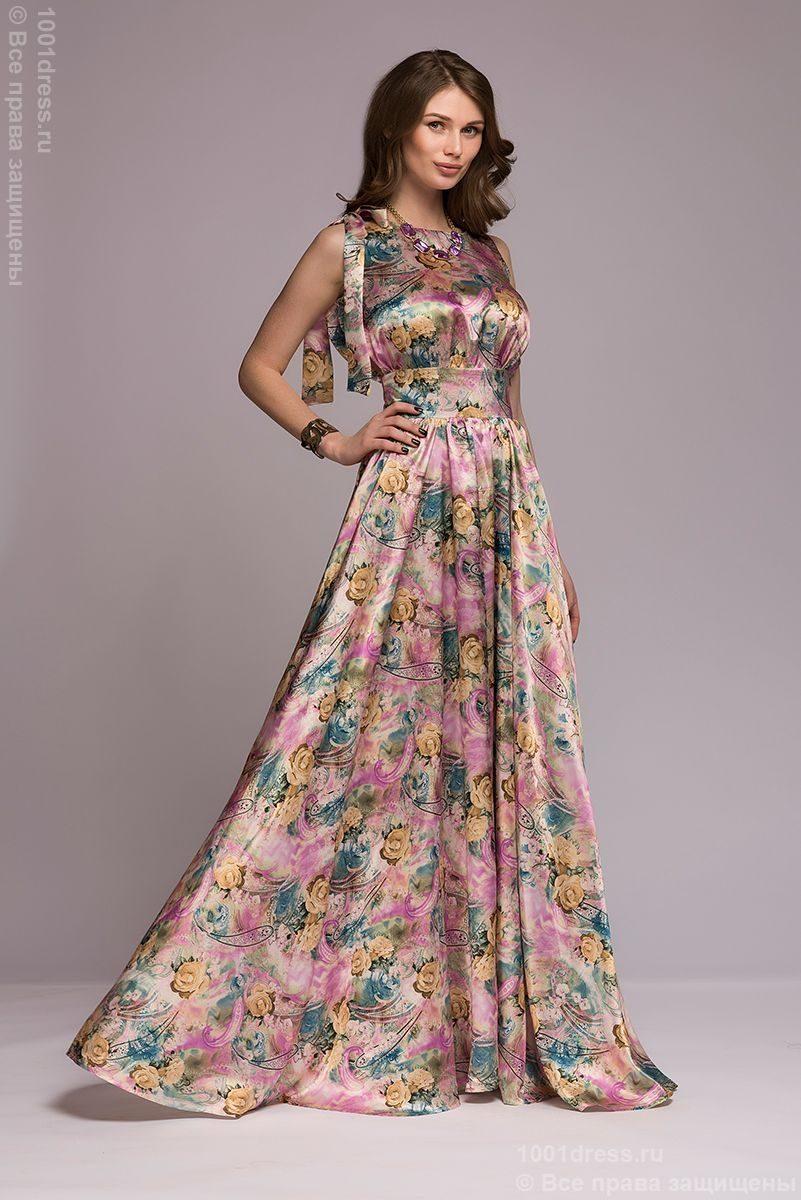 432271d1387 Платье длины макси с принтом купить в интернет-магазине 1001DRESS
