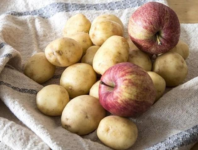 Картинки по запросу картофель положите к нему несколько яблок