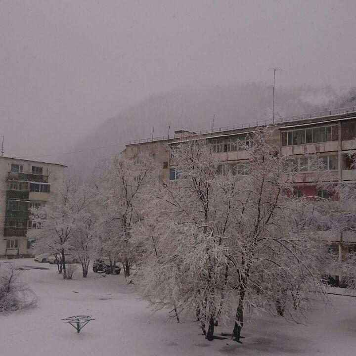 В Дальнегорске снег