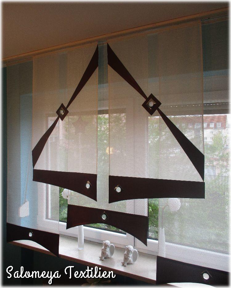 Gardinen set 5 st schiebepanele fl chenvorhang 3 for Wohnlandschaft 3 00 meter breit