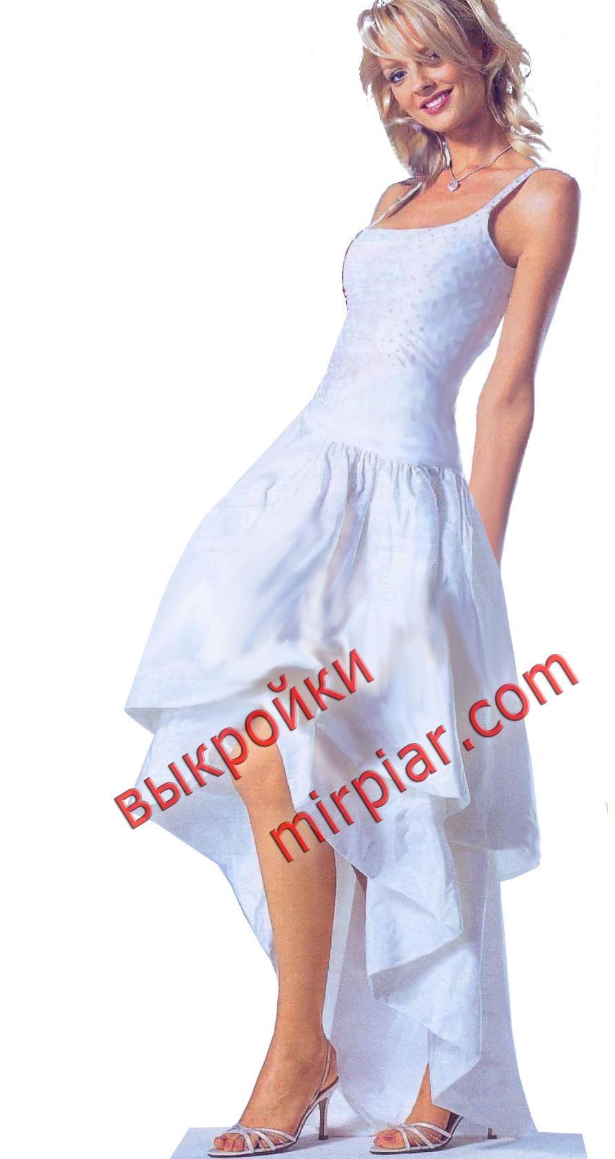 платье маллет юбка укороченная спереди