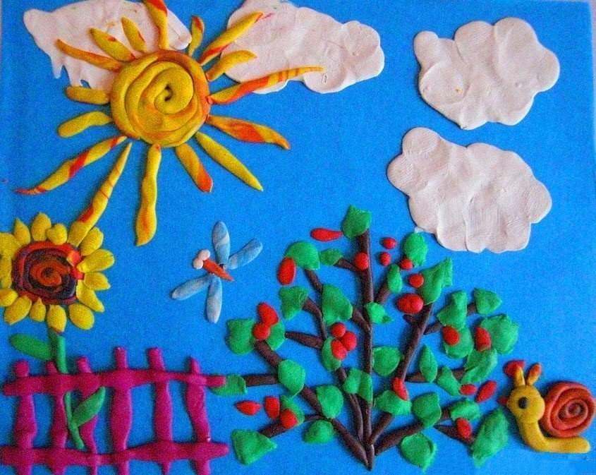 Аппликация для детей на тему лето картинки