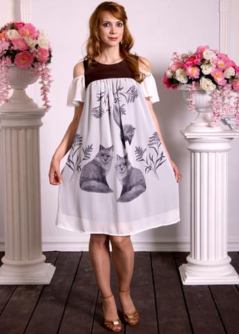 Летнее платье с лисами c7462b1f8f1