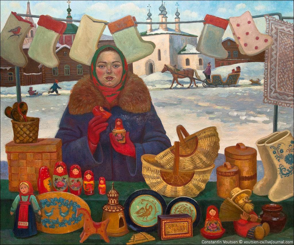 Торговля в россии открытки