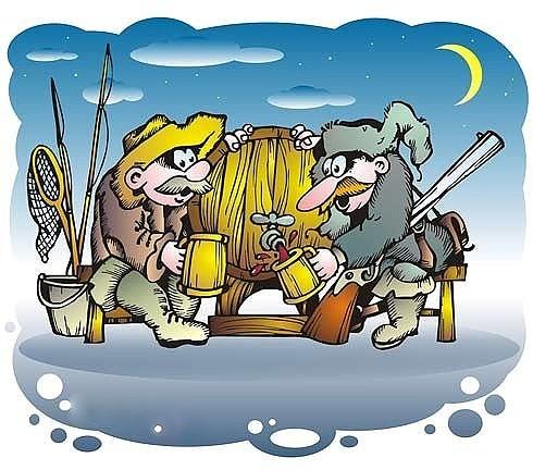 Новогодние открытки, прикольные картинки с охотой и рыбалкой