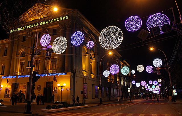 улица Красная ночью