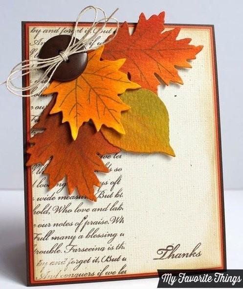 открытка один лист стиль