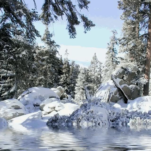 Гиф картинки природа зима