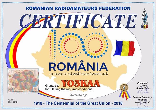 Диплом Столетие Великого объединения  По случаю 100 летнего Юбилея вхождения Трансильвании и Буковины в состав Румынии будет выдать Диплом 1918 Столетие Великого объединения 2018 Диплом