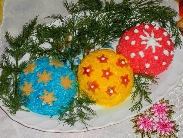 Салат «Новогодние игрушки»