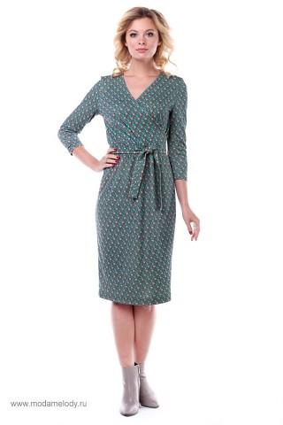 bcac02c4920 Мелодия моды - магазин одежды с доставкой. Платье Зип-Арт S-2744-1  бежево-бирюзовый