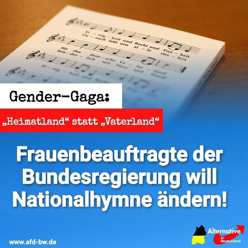 Die Deutsche Nationalhymne Soll Nun Nach Wunsch Der Spd Auch Der