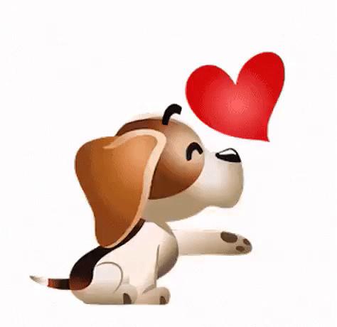 животные с сердечками картинки анимации