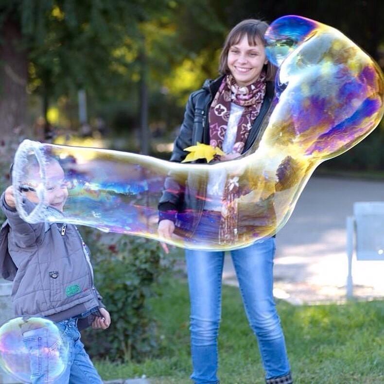 как вставить фото в мыльные пузыри видела для себя