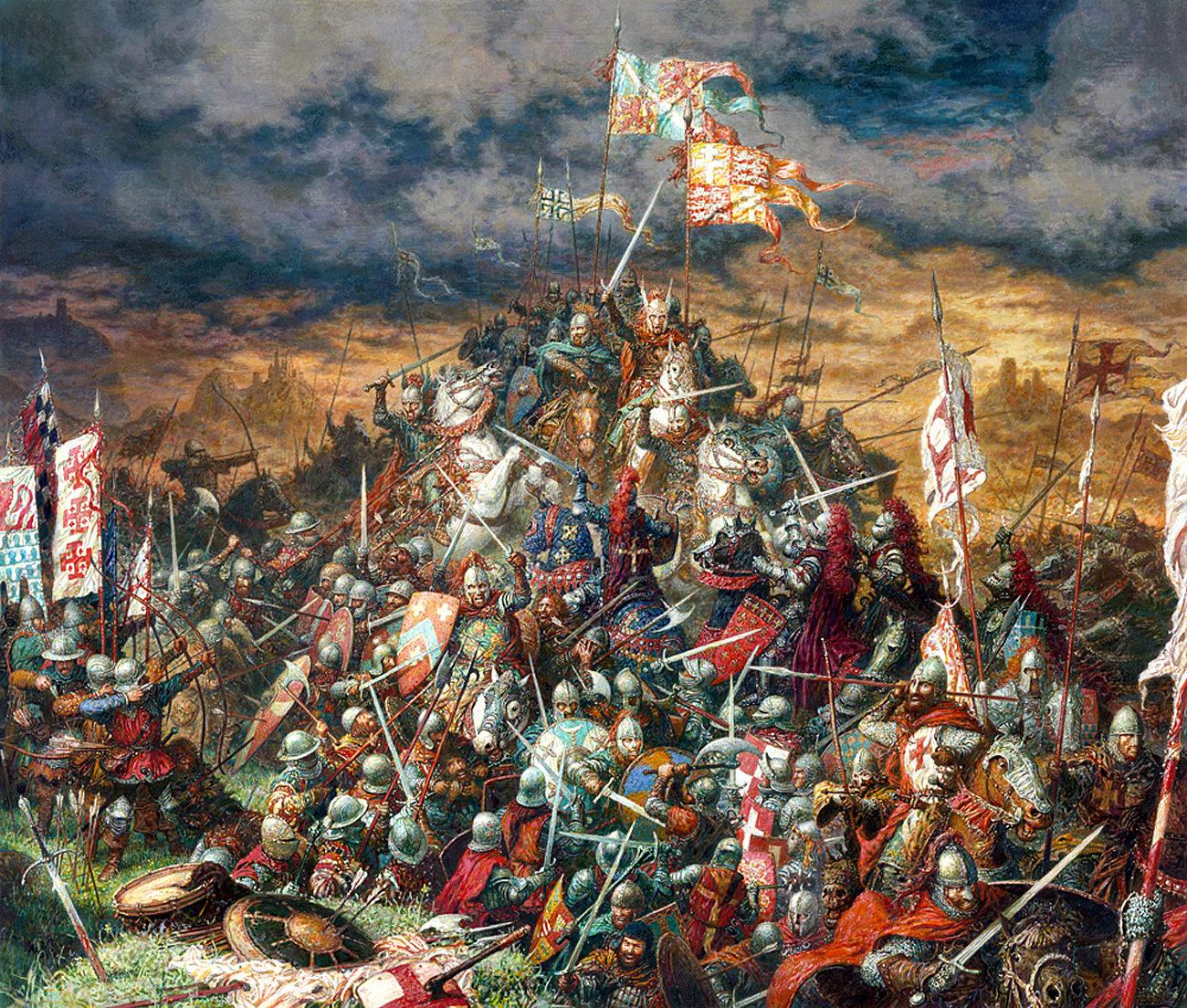 Невская битва в картинах художников