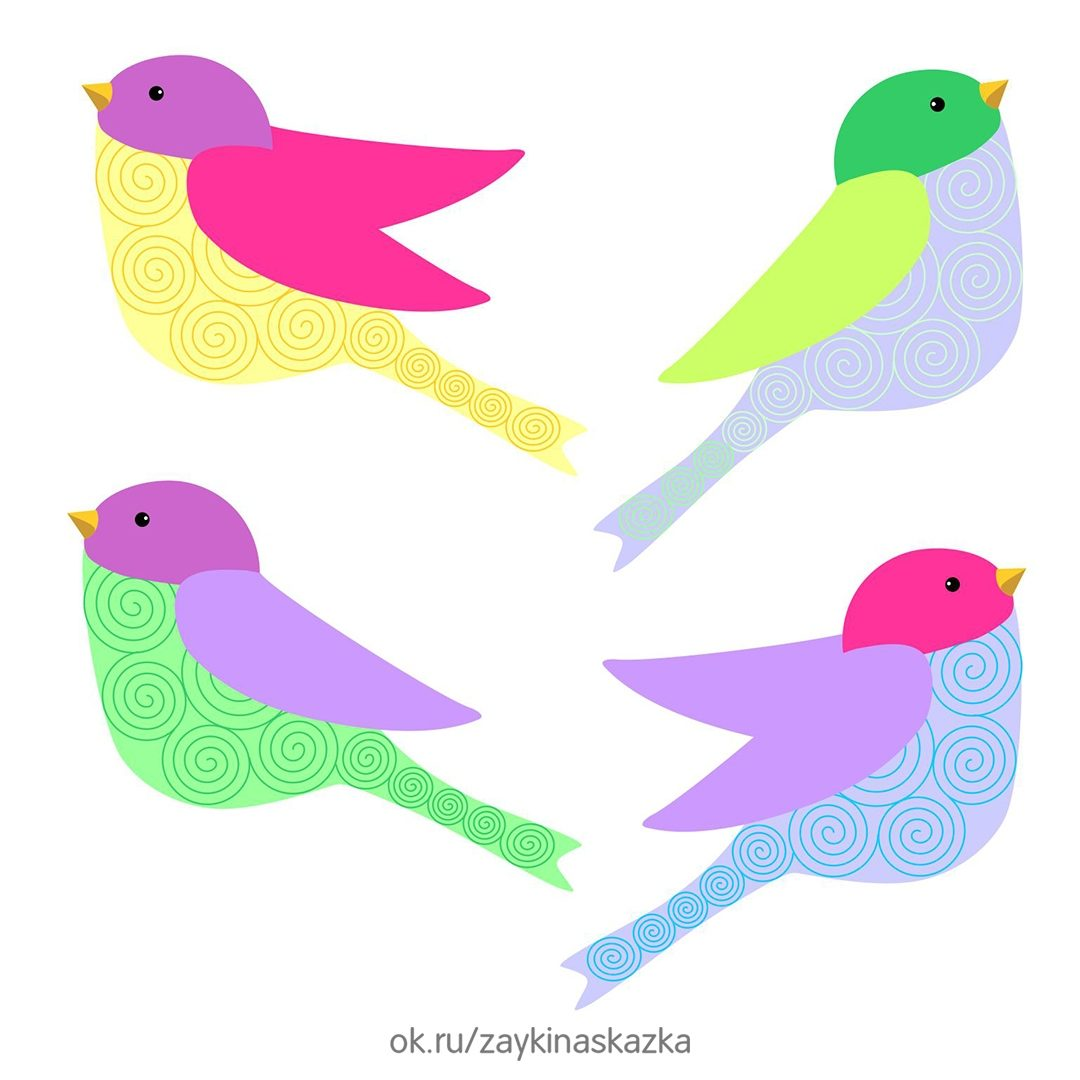 Картинки птицы для аппликации
