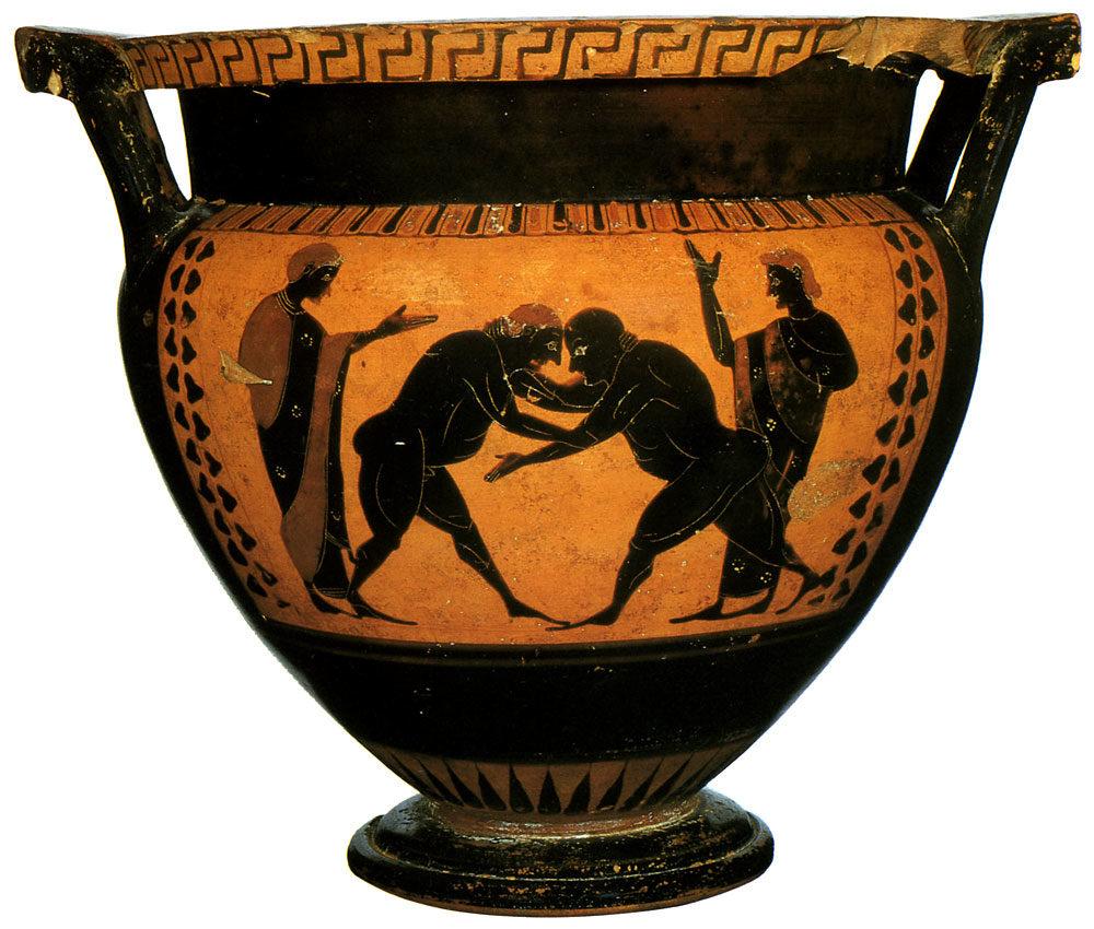 борцы рисунок на древнегреческой вазе других