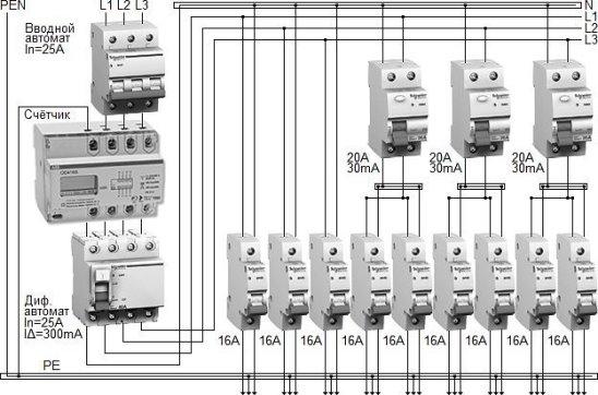 авв дифавтоматы схема подключения