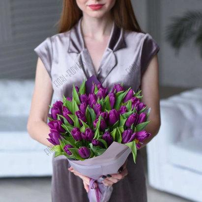 Цветы, хочу букет из фиолетовых тюльпанов и чтоб