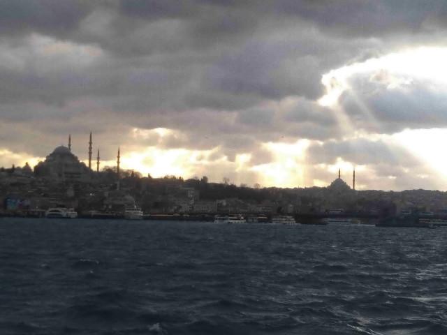 Вид на район Султанахмет, мечети Ахмета и Сулеймана.
