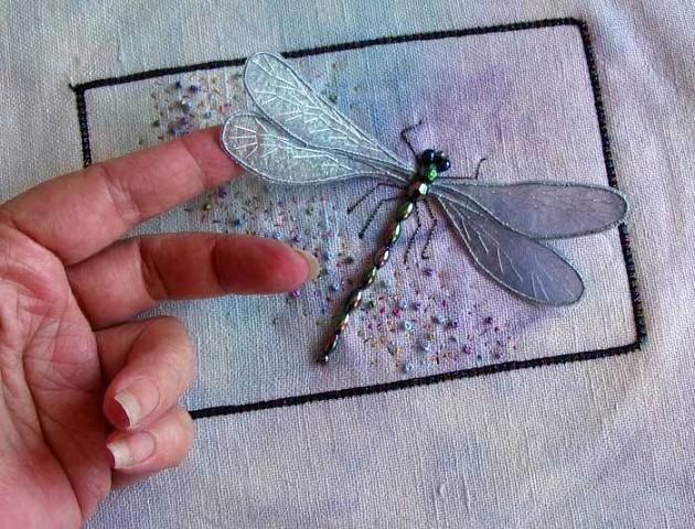 立体绣:蜻蜓 - maomao - 我随心动