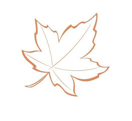 刺绣模板:秋叶 - maomao - 我随心动
