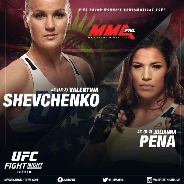 Картинки по запросу UFC on FOX 23. Валентина Шевченко-Джулианна Пена